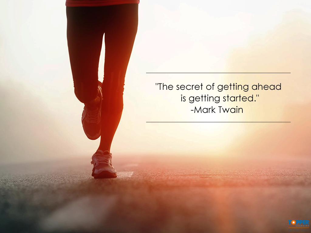 """""""The secret of getting ahead is getting started."""" ~ #MarkTwain 