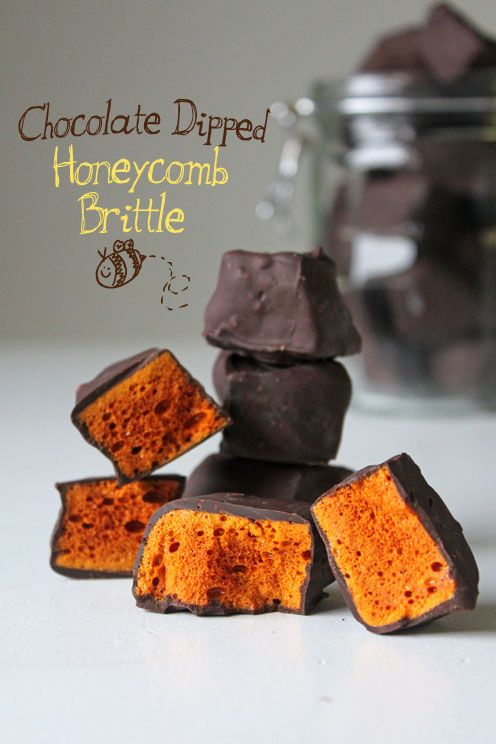 Chocolate Dipped Honeycomb Brittle