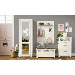 Photo of set one by Musterring hall cupboard York ¦ white ¦ dimensions (cm): W: 75 H: 207 D: 42 set one