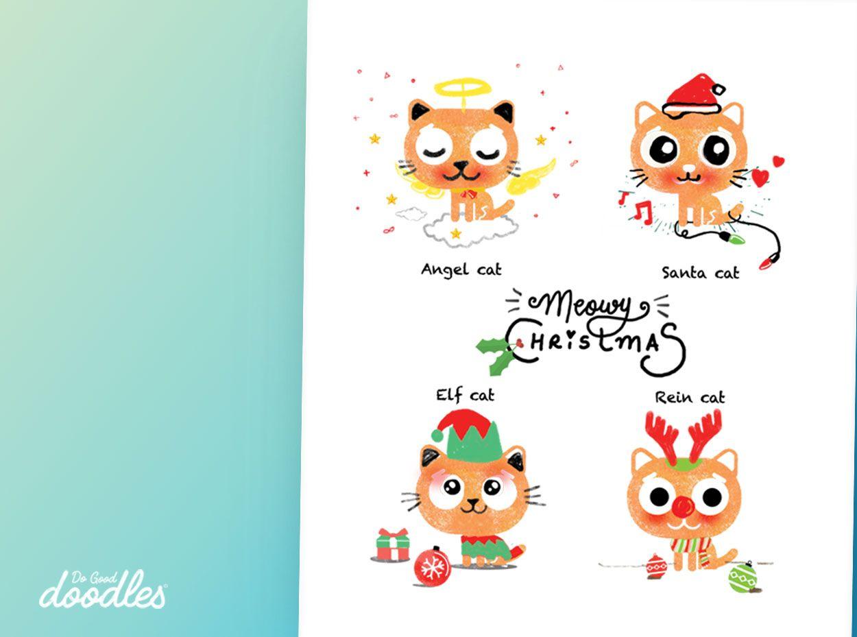 Cat Christmas Card, Funny Cat Card, Meowy Christmas, Funny Christmas ...