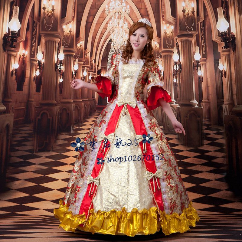 Hot Ball Gowns Adult Princess Costume Victorian Dress Halloween ...