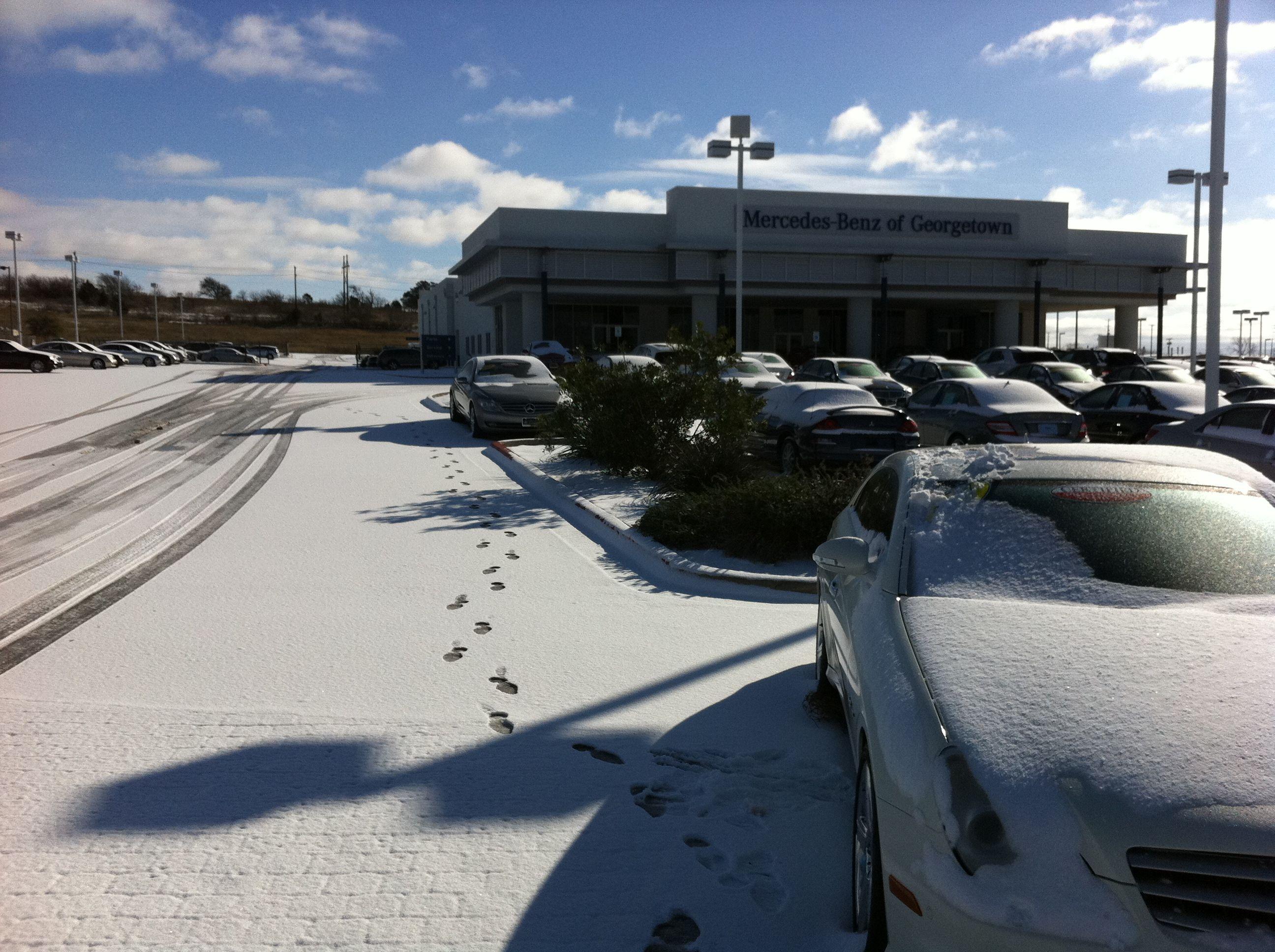 Mercedes Benz · Snow In Georgetown TX