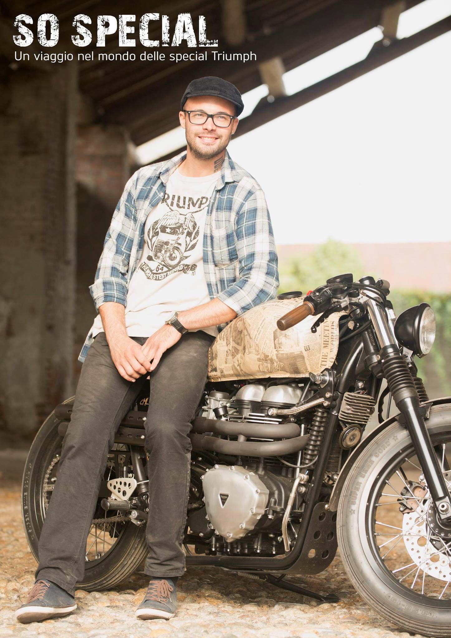 """#TriumphSoSpecial #4 - """"La soddisfazione del produrre con le proprie mani qualcosa di concreto, di tangibile, va oltre la progettazione nei minimi dettagli"""". Mattia Foroni - Centro Moto Lodi."""