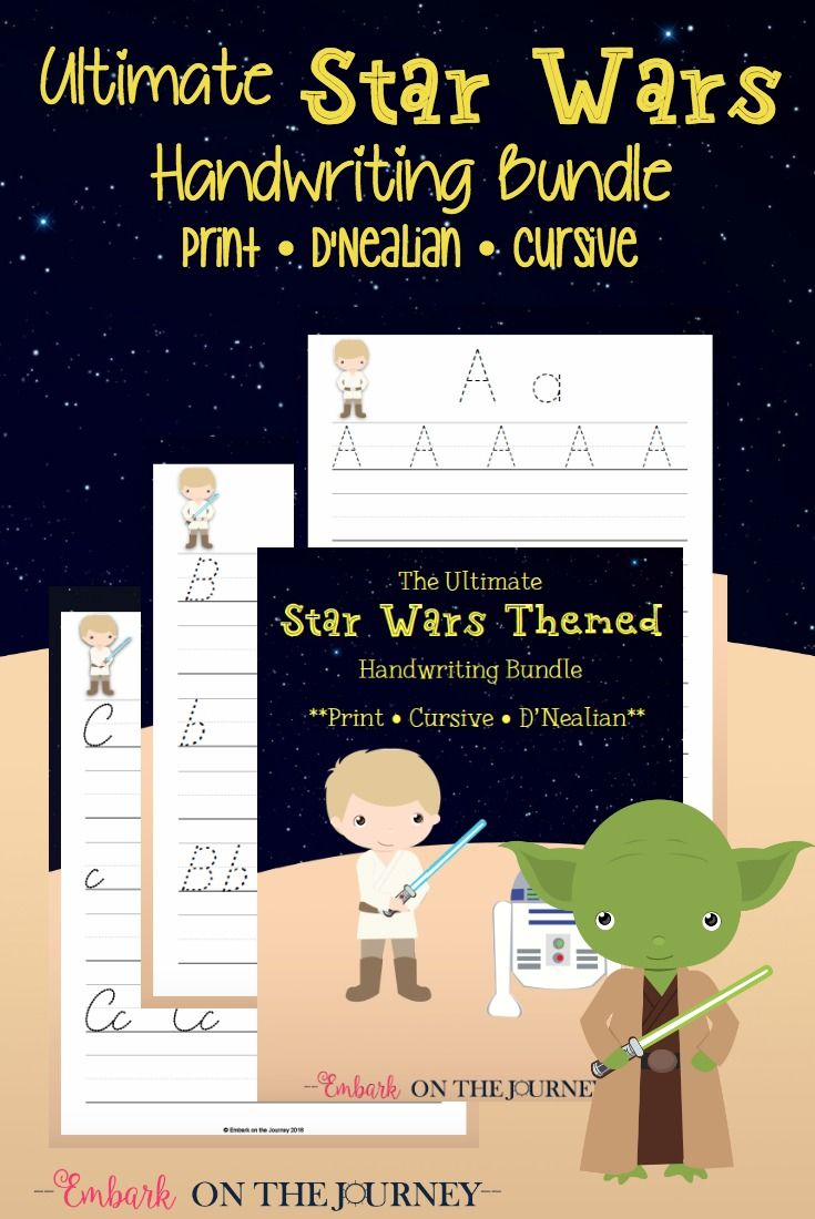 Celebrate Star Wars Day with This Handwriting Bundle! | Kind