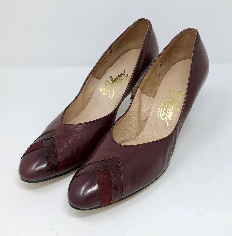 b475c25ac3de Vintage Johansen Womens Size 12 AA Narrow Pumps Heels Leather Shoes Career  Work