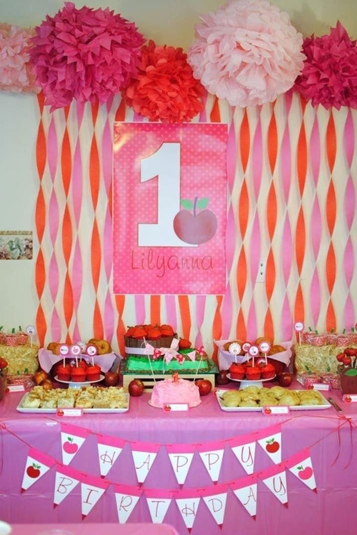 30 1st Birthday Party Decorations at Home | Homemade ...