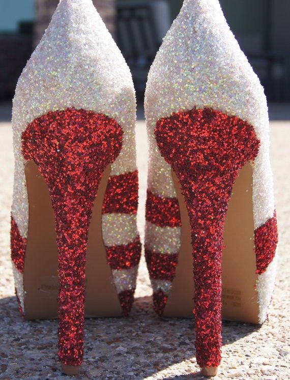 fafd99398d21a Pin by LoveItSoMuch on High heel shoes <3 | Glitter shoes, Christmas ...