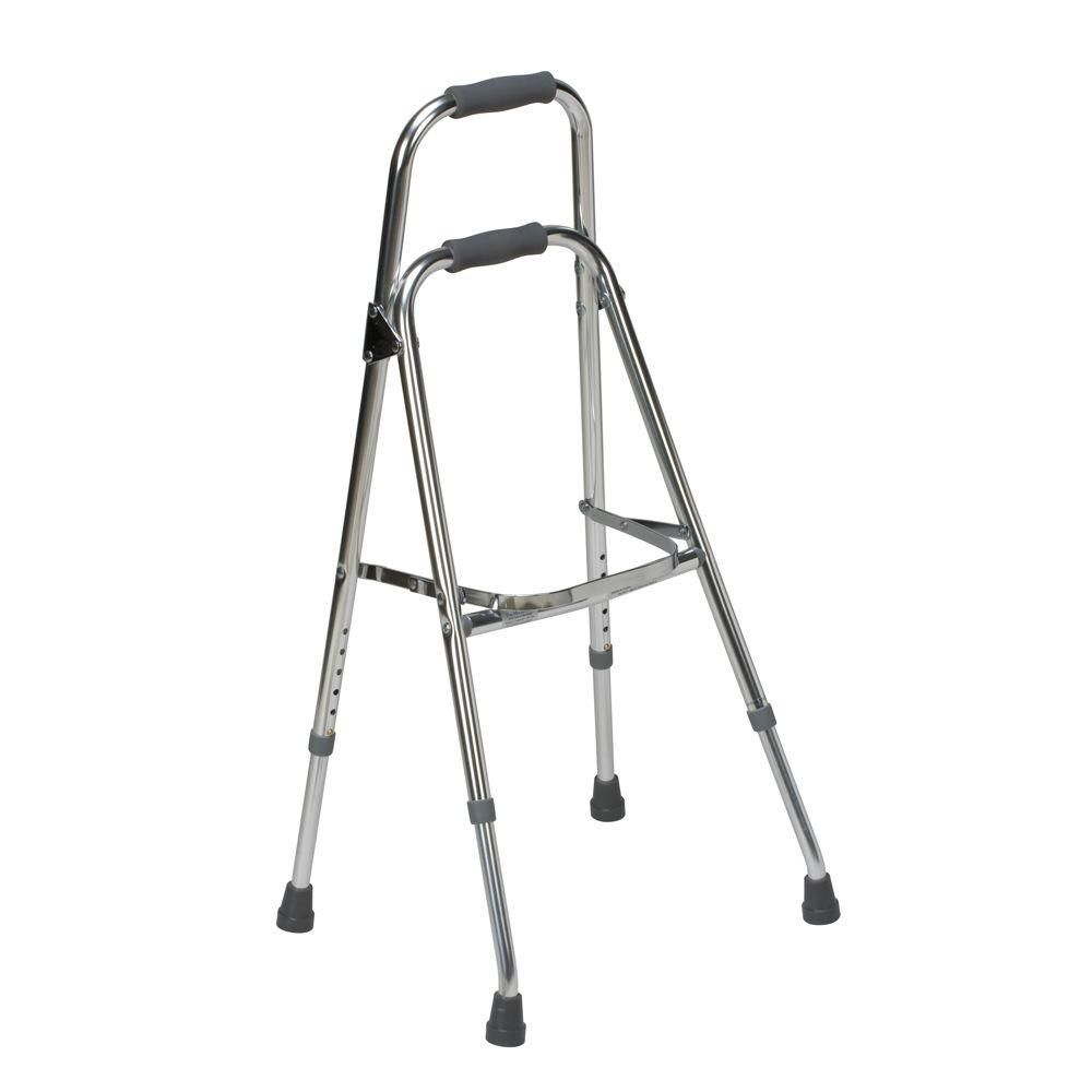 Dmi Folding Aluminum Hemi Walker In Chrome 500 1306 0600 Walker For Seniors Walker Basket Walker Accessories