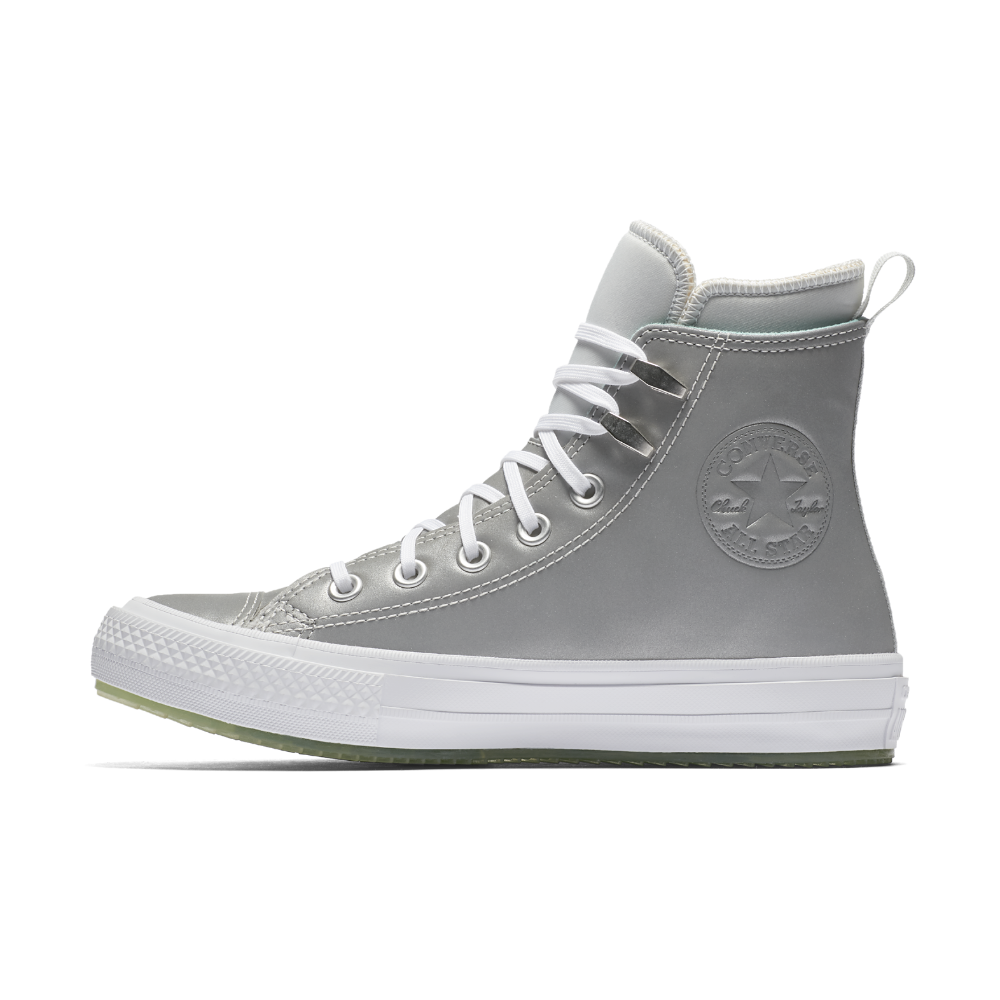 086f6de0ae09 Converse Chuck Taylor All Star White Ice High Top Women s Boot Size 10.5  (Grey)