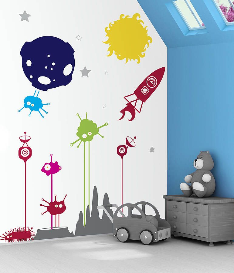 Space Boy Wall Stickers Boys Wall Stickers Wall Sticker And Spaces - Kids wall decals boys