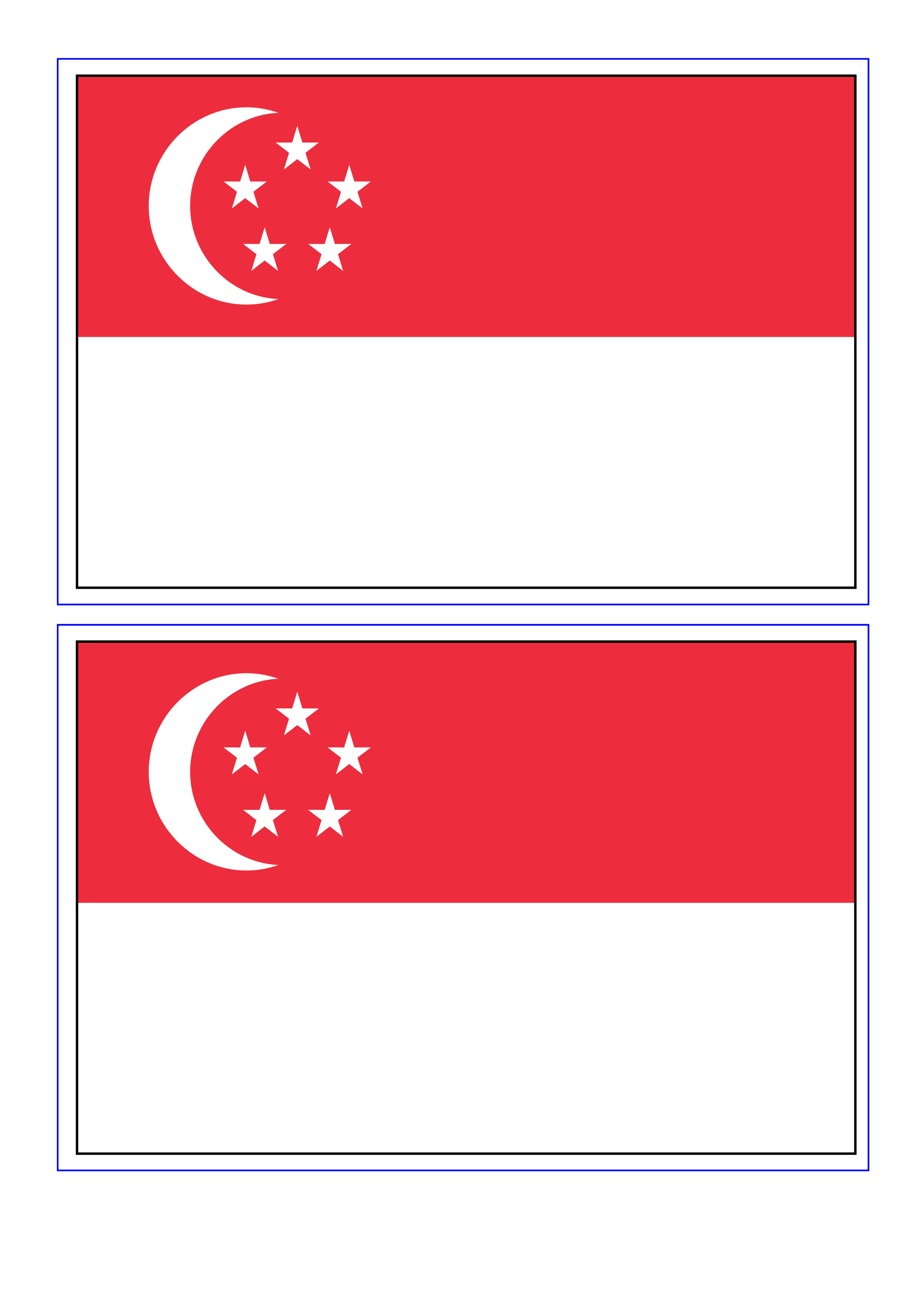Download This Free Printable Singapore Template A4 Flag A5 Flag 8 And 21 Flags On One A4page