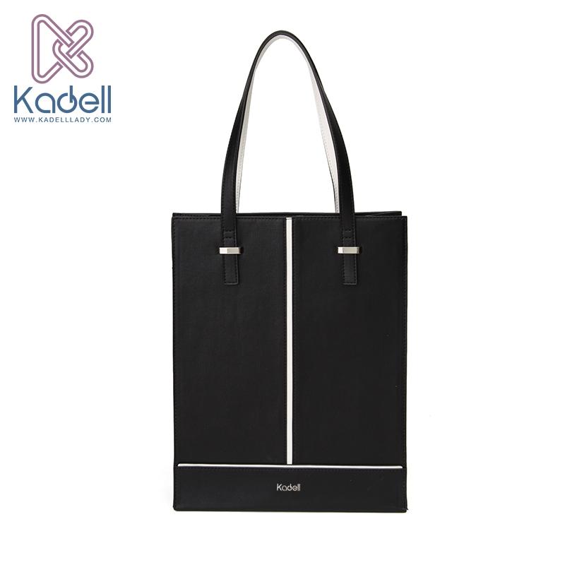 Kadell New Luxury Handbags Women Bags Designer 2017 Office Lady Vertical Shoulder Black White Pu Leather Casual Tote Bag Fatekey