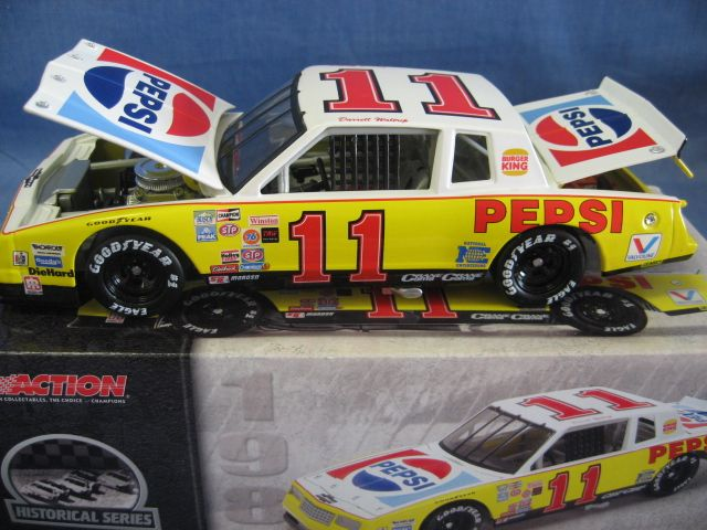 Action  1:24 Scale Die-Cast Darrell Waltrip #11 Pepsi/Burger King '83 Monte Carlo Replica