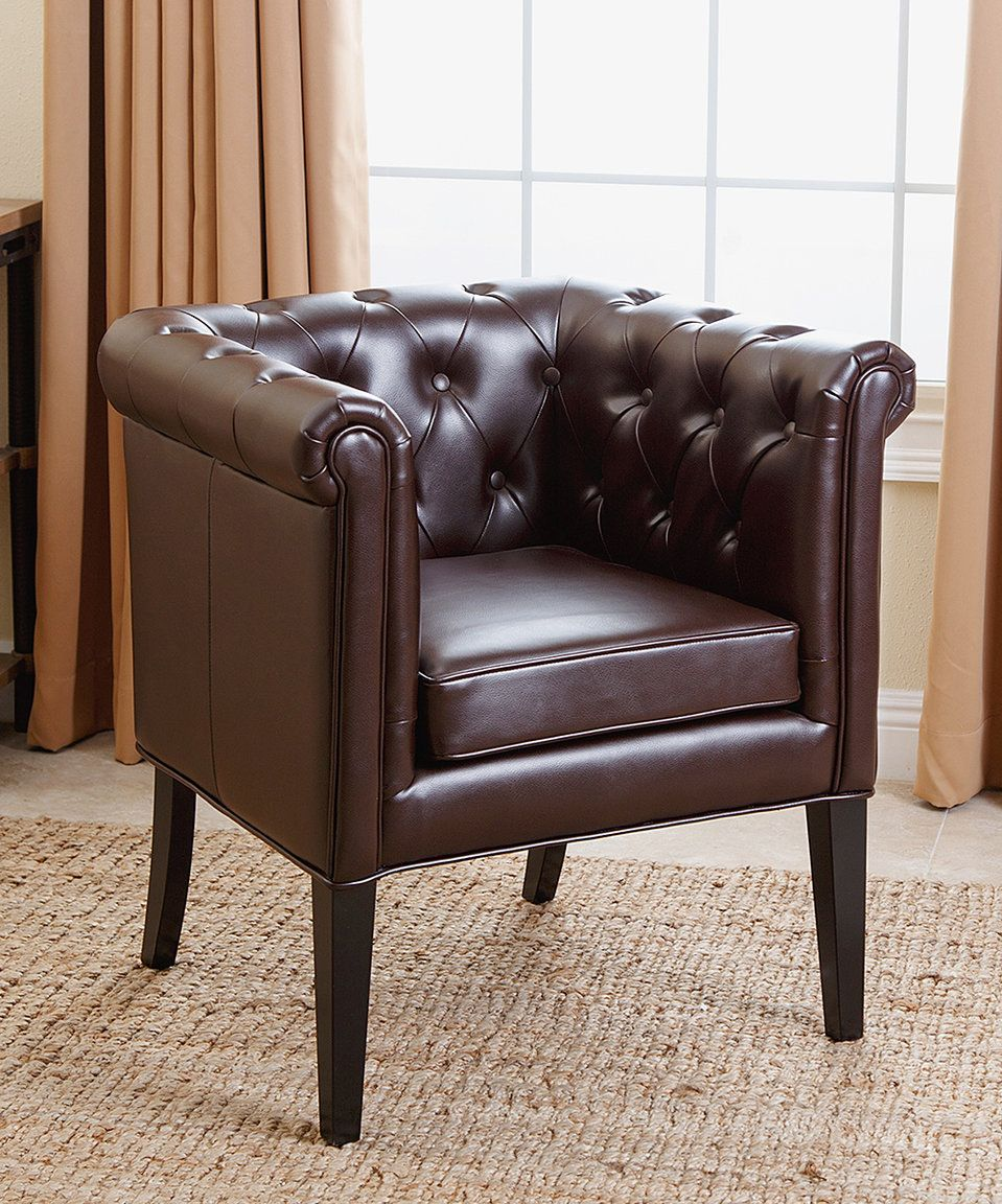 Take a look at this Dark Brown Kingsman Leather Dining Chair today ...