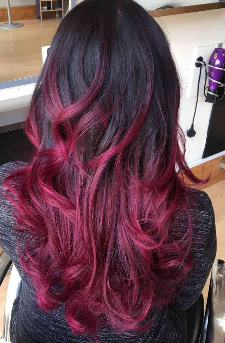 Balayage Rot ist die Trendfarbe für den Herbst- 40+ schöne