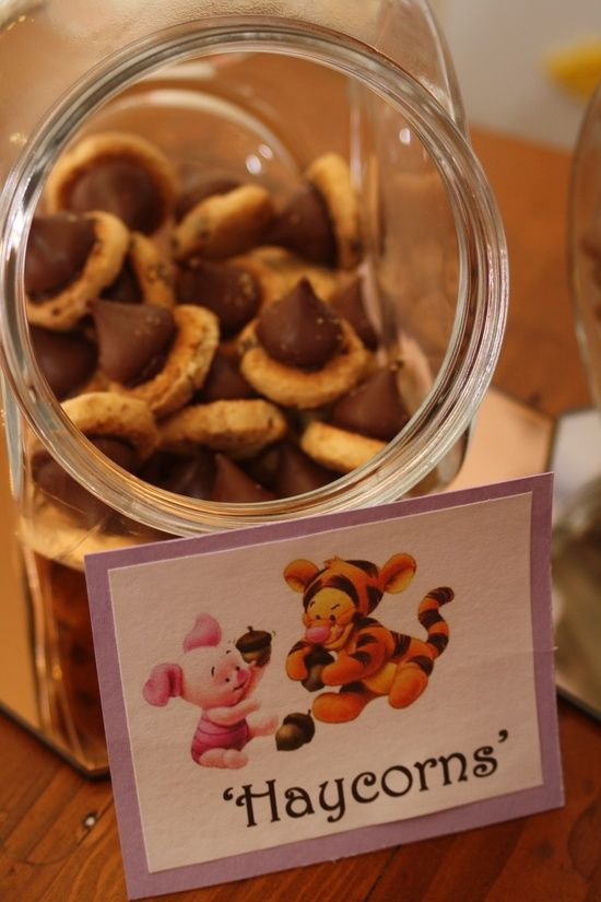 Cute Winnie The Pooh Food Signs Scarlett S Baby Shower ️
