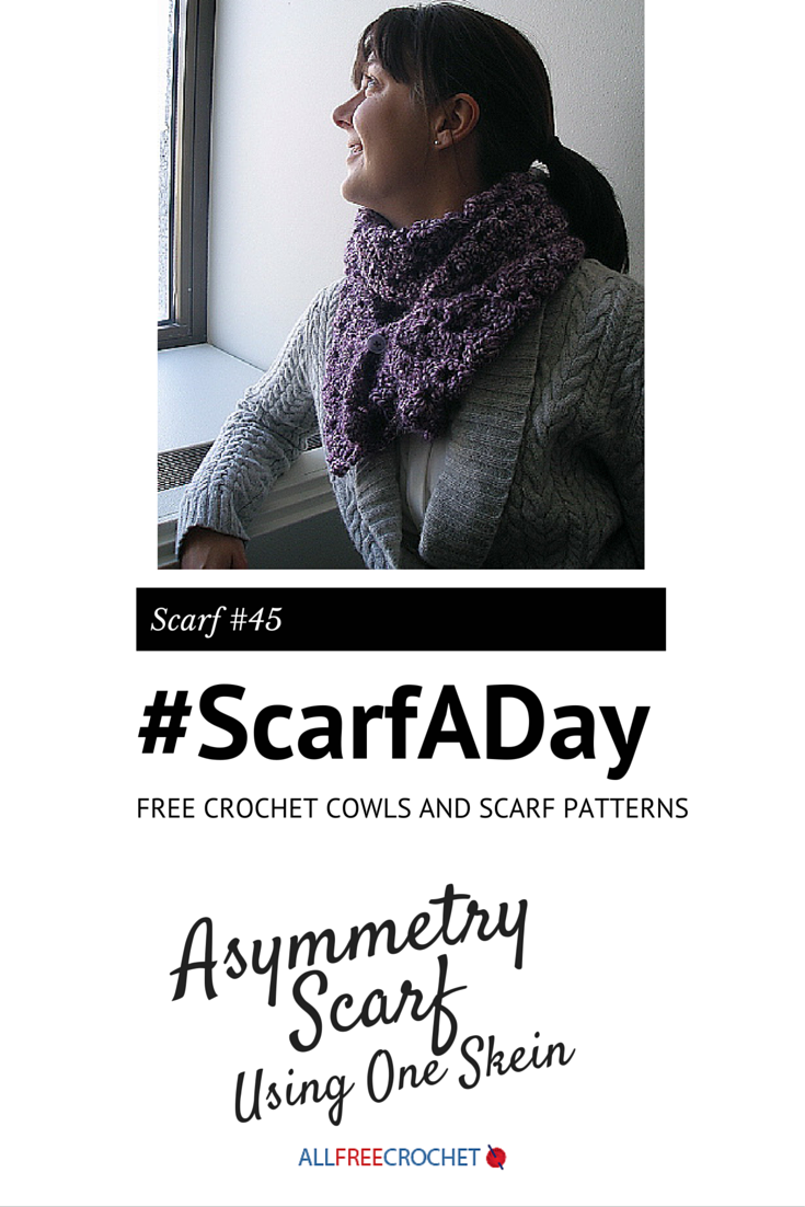 Asymmetry Scarf Using One Skein