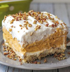 Good Stuff/Joe's Pie -Layered Pumpkin Delight. Can't wait to make this for Thanksgiving !!!
