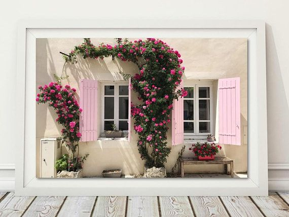 Blush Pink Wall Art Provence Poster French Architecture