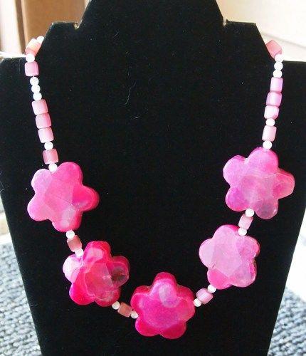 "Flowering Fuschia 19"" Necklace | hollyshobbiesncrafts - Jewelry on ArtFire"