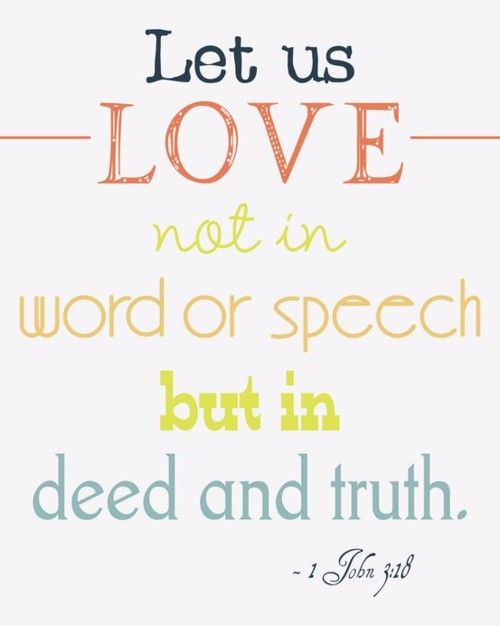 John Little Children Let Us Not Love With Word Or With Tongue But In Deed And Truth