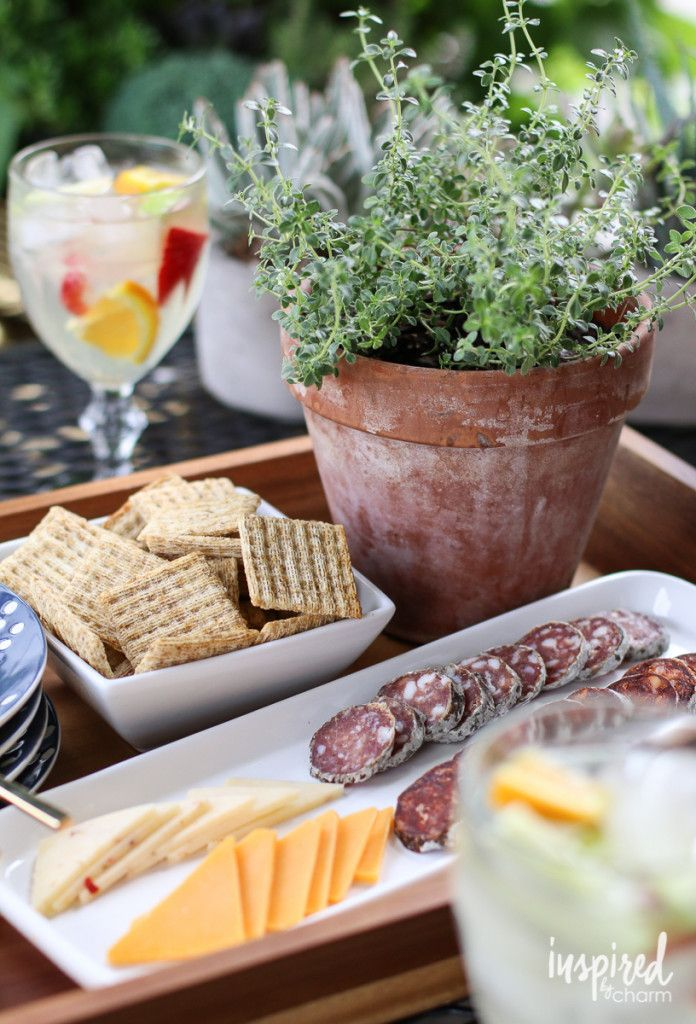 Sangria and Snacks summer entertaining and