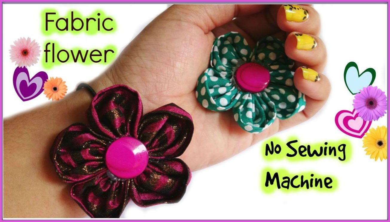 How to make fabric flower I Without sewing machine