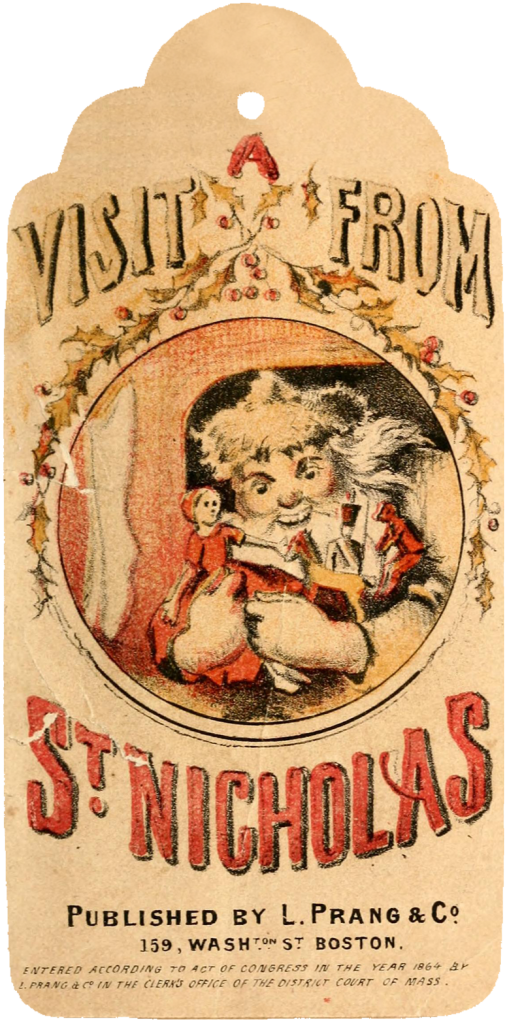 Wings of Whimsy: A Visit From St. Nicholas - 12 Printable Tags - free for personal use #vintage #victorian #bookpage #printables