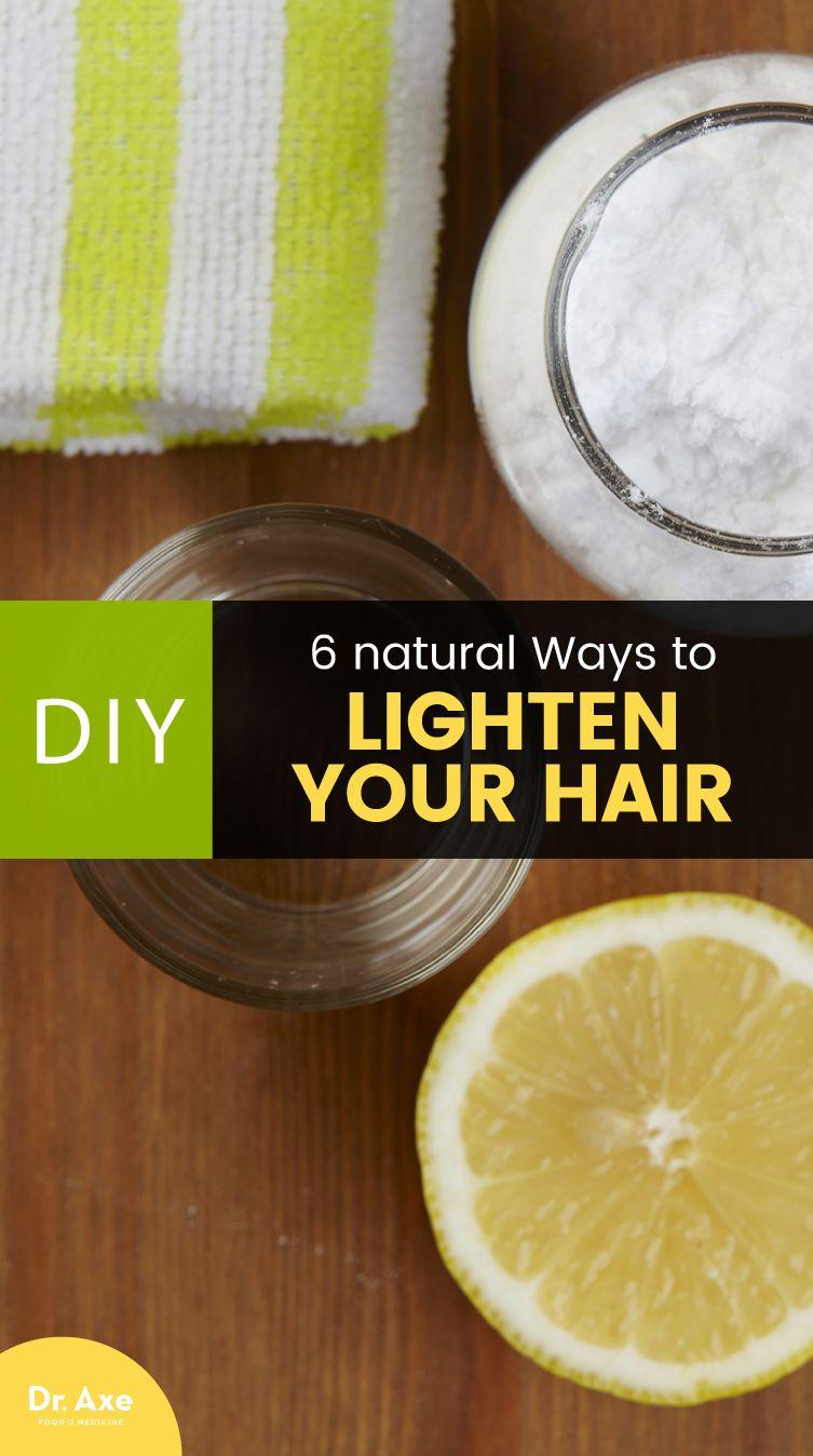 How to Lighten Hair Naturally u Natural Ways Recipe Natural