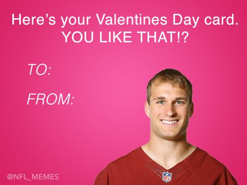 This Year S Batch Of Nfl Themed Valentines Day Cards Dailysnark Com Valentine Day Cards Valentines Cards Valentines