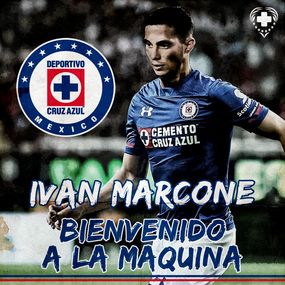 Ivan Marcone a CAZ Cruz azul, Club de fútbol cruz azul