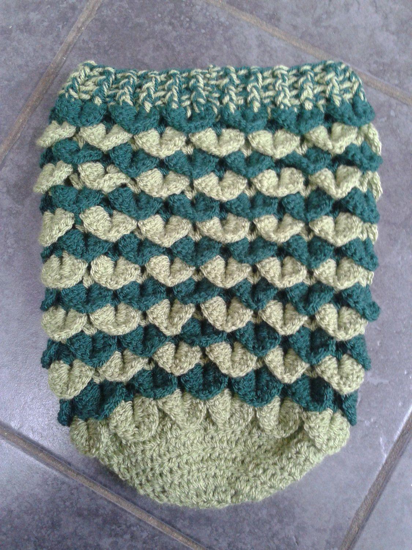 PDF Crochet PATTERN Crocodile Stitch Newborn Baby Cocoon | baby ...