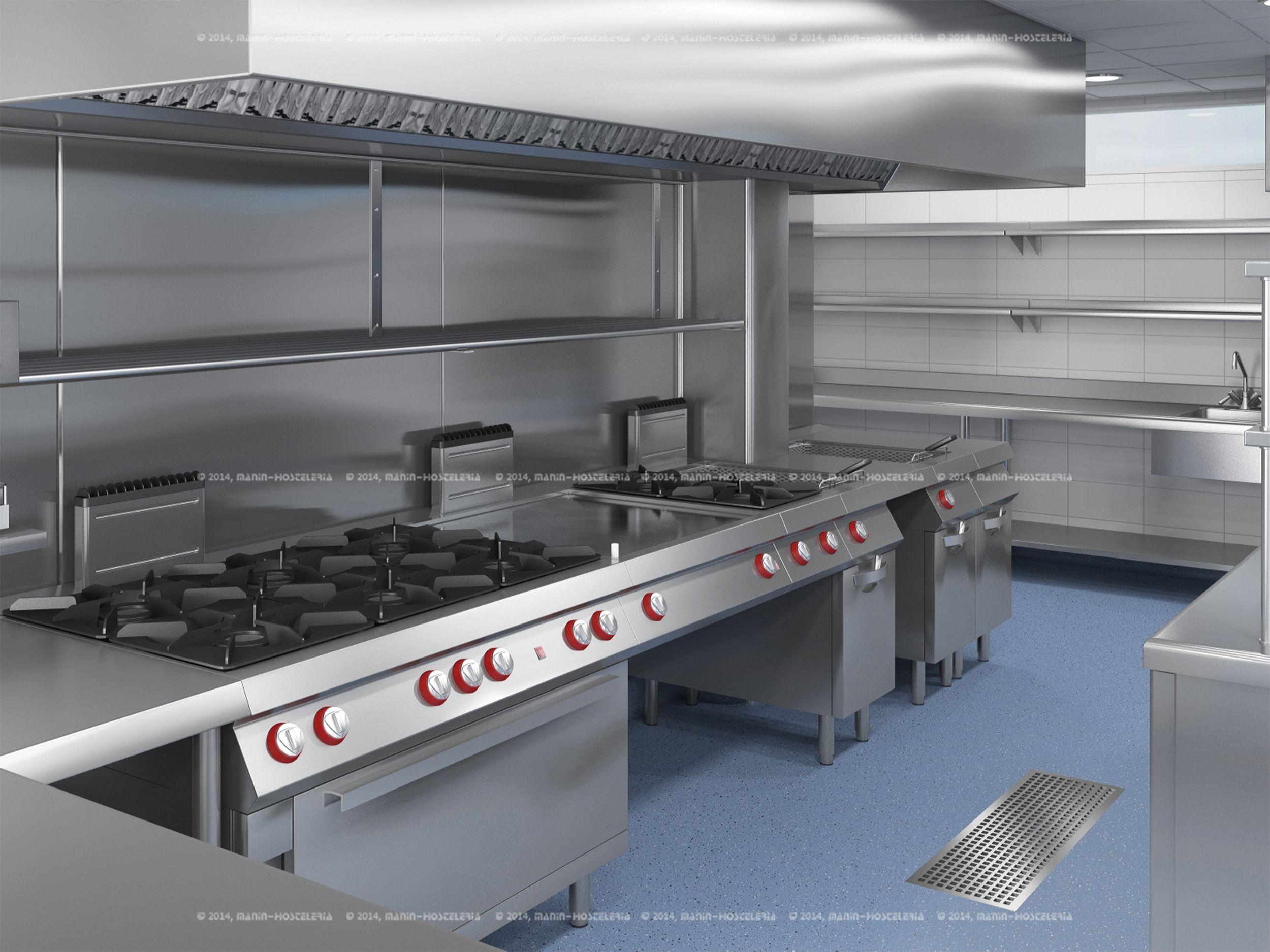 Dise o de cocina industrial en 3d y cad con rea for Diseno cocinas 3d gratis espanol
