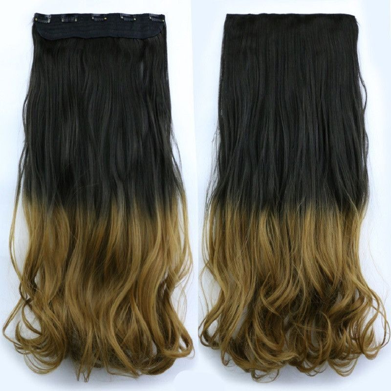 20inch 120g Clip In Hair Extensions Wavy False Hair Styling