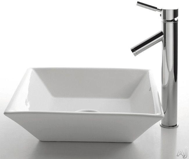 Powder Room Guest Ceramic Sink Square Bathroom Sink Sink
