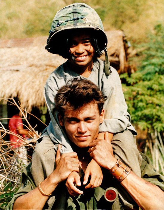 Platoon movie stills / set shooting