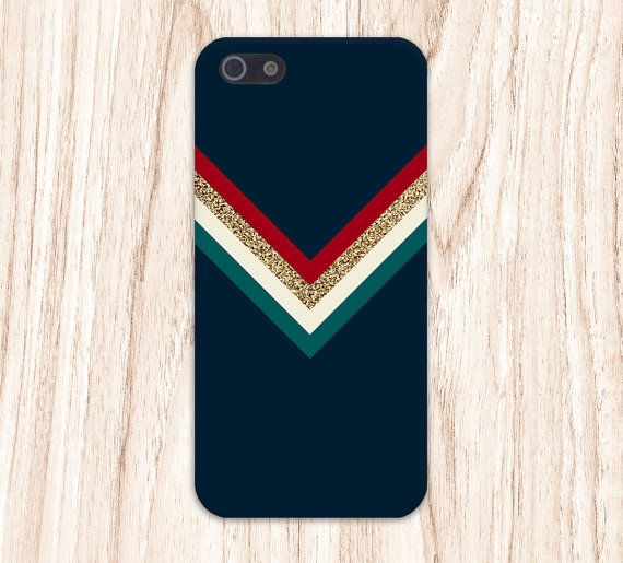 Colorful Chevron x Gold Glitter x Navy Blue Case.    Available for iPhone 6, iPhone 6 Plus, iPhone 5, iPhone 5S, iPhone 4, iPhone 4S, iPhone 5C,