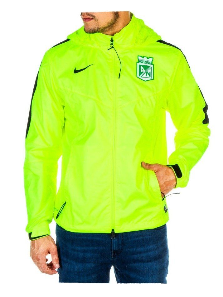 Chaqueta Nike Impermeable Verde Fosforescente Atlético Nacional 2016 ... 98c2d4f66430c