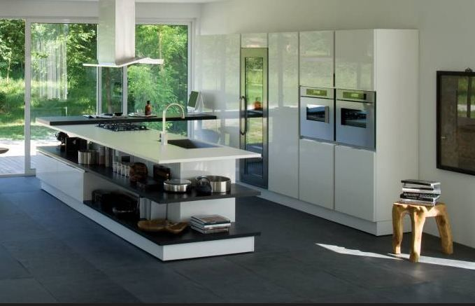 Risultati immagini per open space cucina con isola e parquet   idee ...