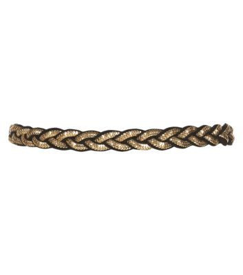 Gold Chain Braid Contrast Trim Belt