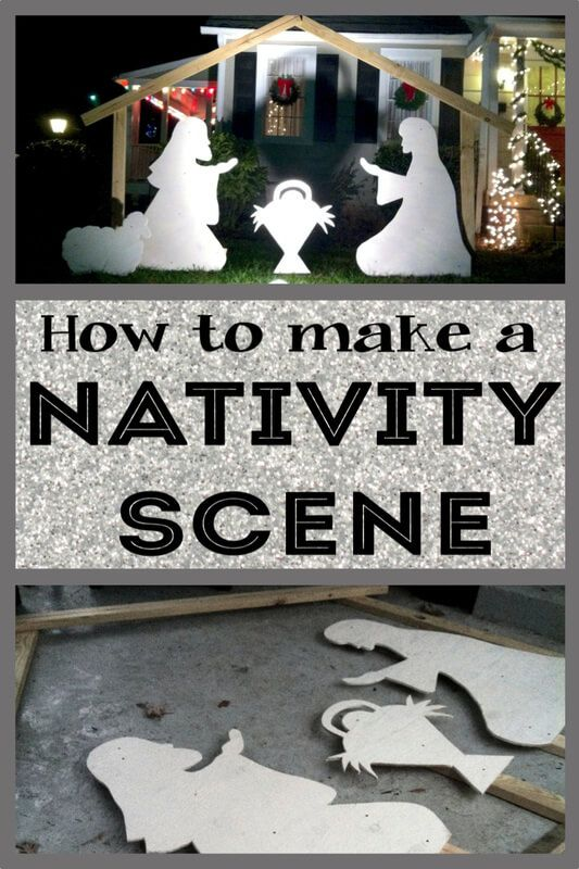 How to make a diy nativity scene for your yard outdoor nativity christmas nativity aloadofball Image collections