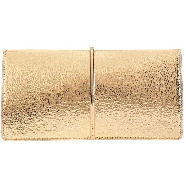 Nina Ricci Women's Arc Detail Clutch (3.642.125 COP) ❤ liked on Polyvore featuring bags, handbags, clutches, purses, bolsas, gold, nina ricci handbags, leather man bags, handbags purses and beige purse
