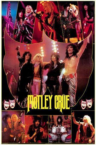 Mötley Crüe Theatre Of Pain Poster Mötley Crüe