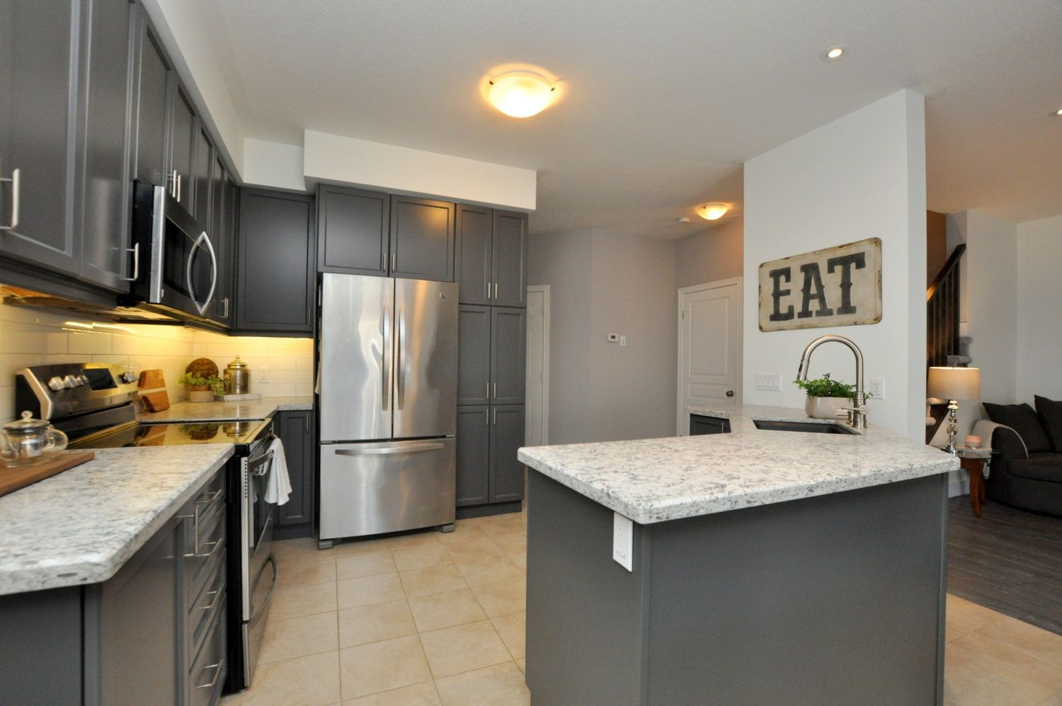 Including Expansive Kitchen Cabinet And Counter Space Breakfast