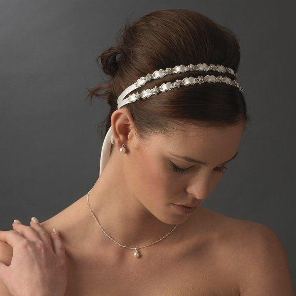 Satin Ribbon Wedding Headbands Bridal Headband For Hair Style