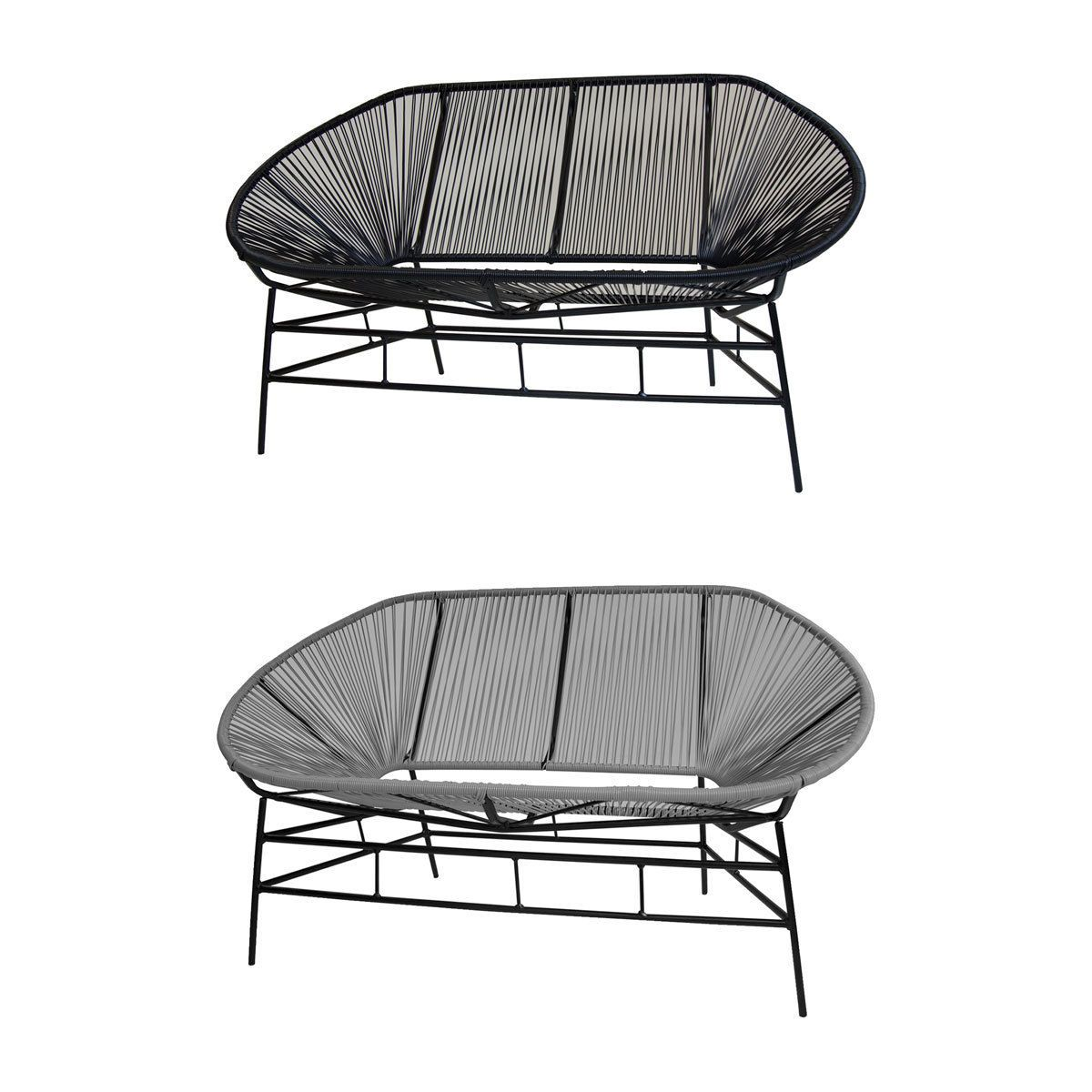 Details About Charles Bentley Garden Furniture Retro Rattan Lounge