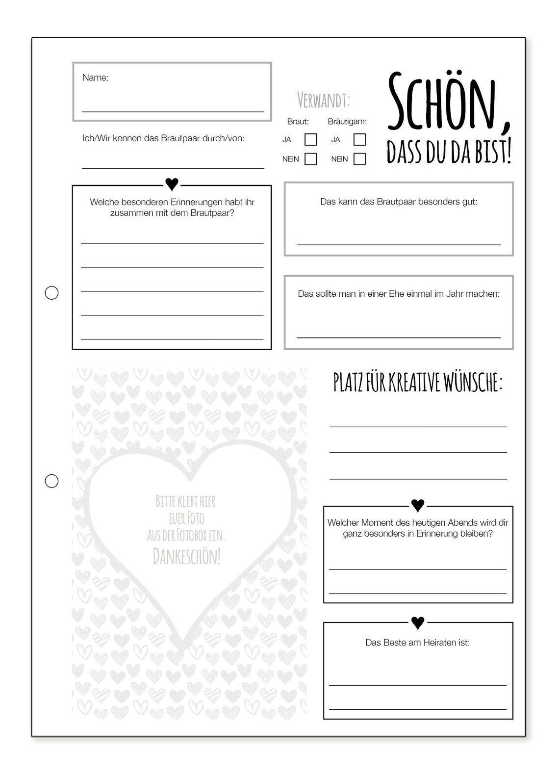 Guestbook cards Wedding Hearts in 2019  Hochzeit  Herbst  Trauzeuge hochzeit Hochzeit