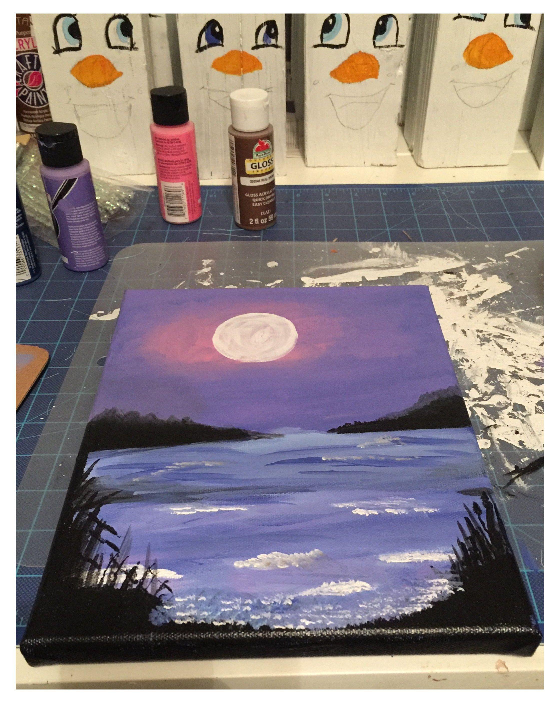 Acrylic Painting Aesthetic : acrylic, painting, aesthetic, Painting, #ideas, #canvas, #aesthetic, #purple, #paintingideasoncanvasaestheticpurple, Purple, Night, Canvas, Paintings,, Painting,