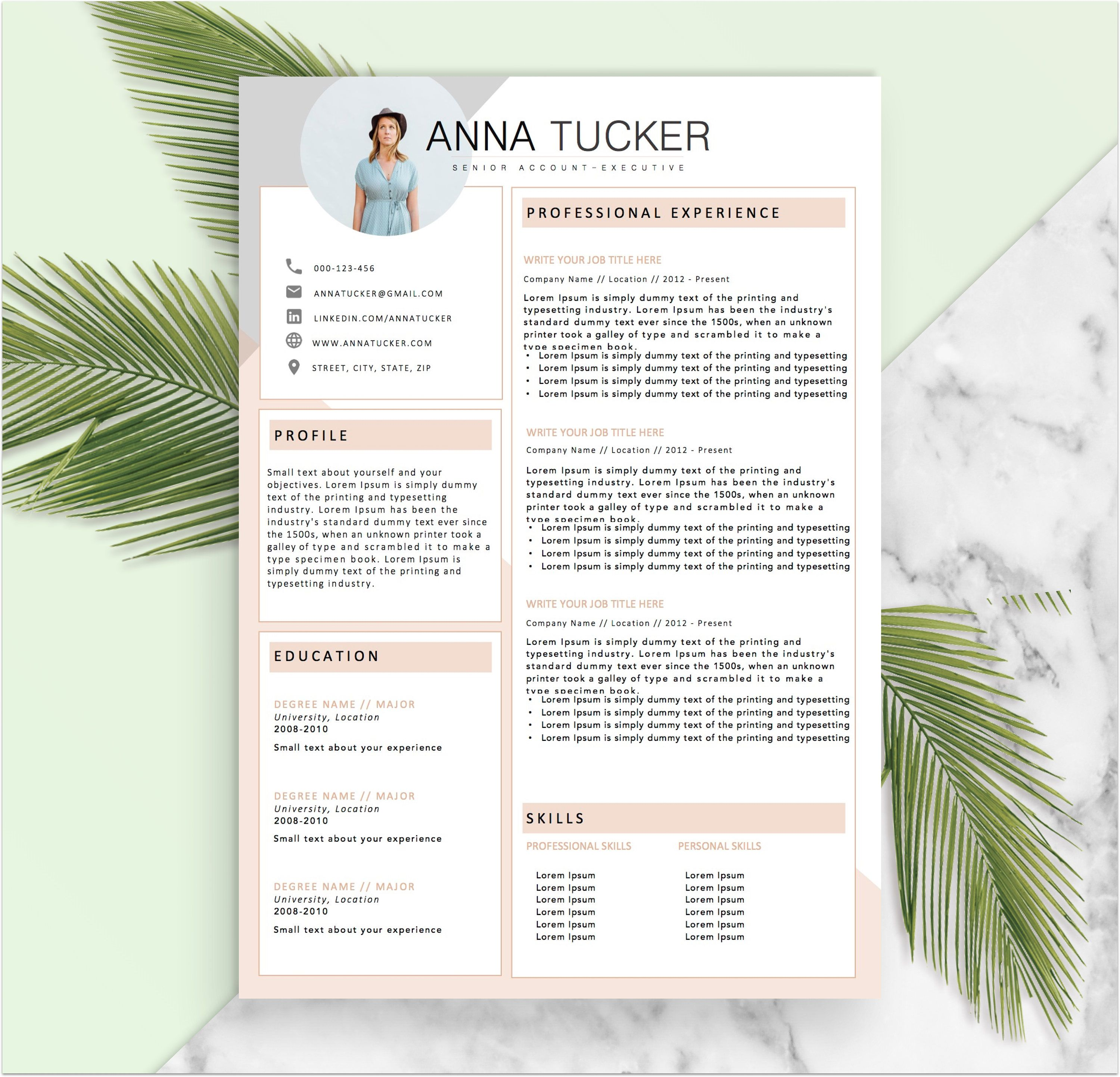 Resumeboulevard  Animaux    Cv Template And Template