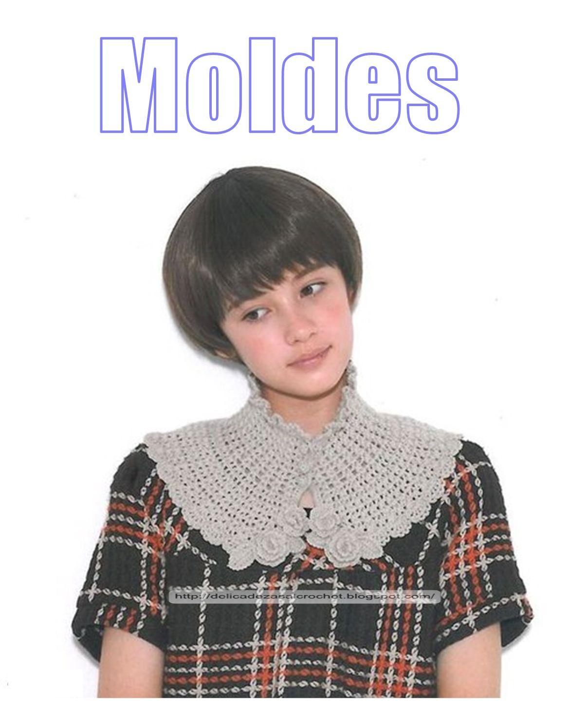 Delicadezas en crochet Gabriela: Cuellos de abrigos